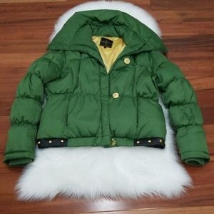 Baby Phat Puffer Jacket💚Green &💛Gold Studded XL,